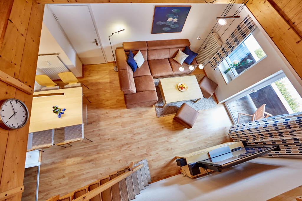 Wohnzimmer 3, Blick von der Empore